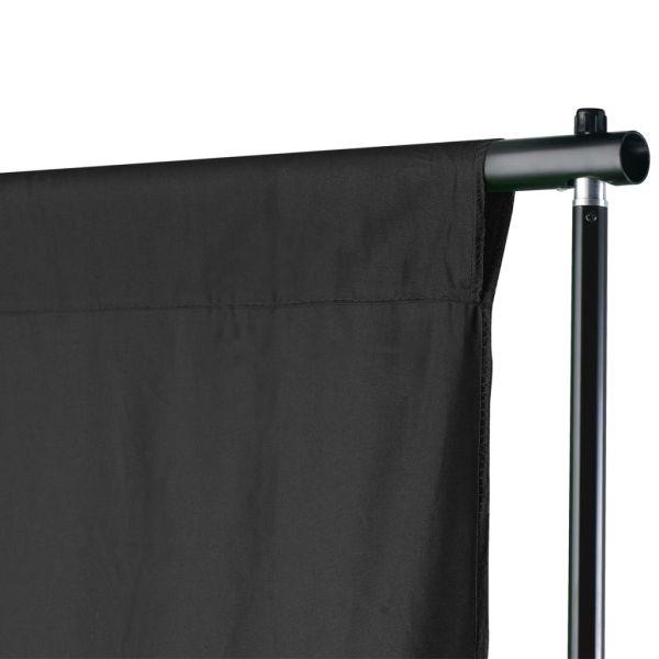vidaXL Sistem de suport fundal, 500 x 300 cm, negru