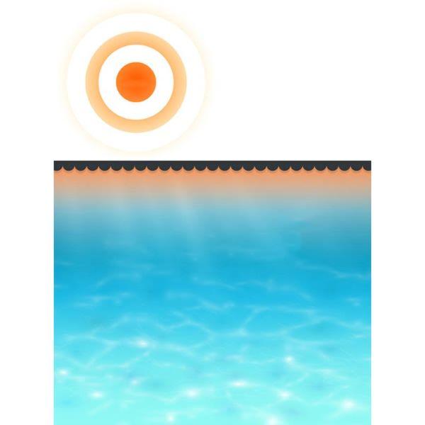 Folie solară pătrată pentru încălzirea apei din piscină 6 x 4 m, Negru