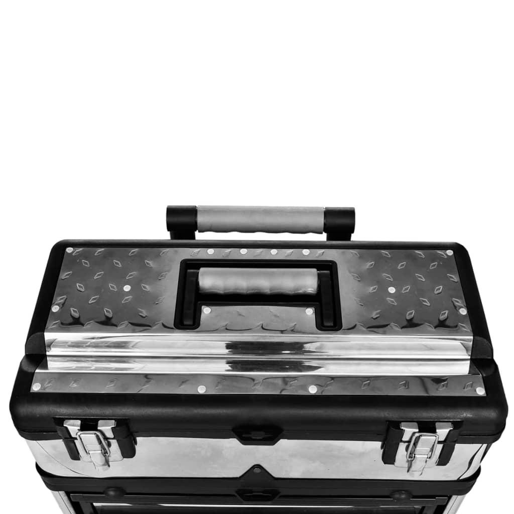 Cutie pentru unelte din 3 părţi cu roţi