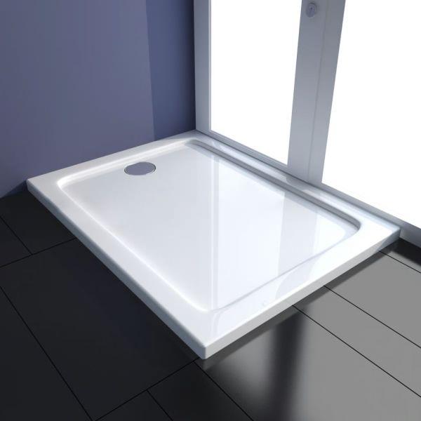 vidaXL Cădiță de duș dreptunghiulară din ABS, 80 x 100 cm