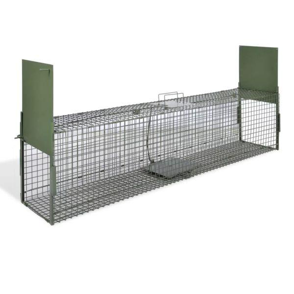 vidaXL Cușcă capcană cu 2 uși 150 x 30 x 30 cm