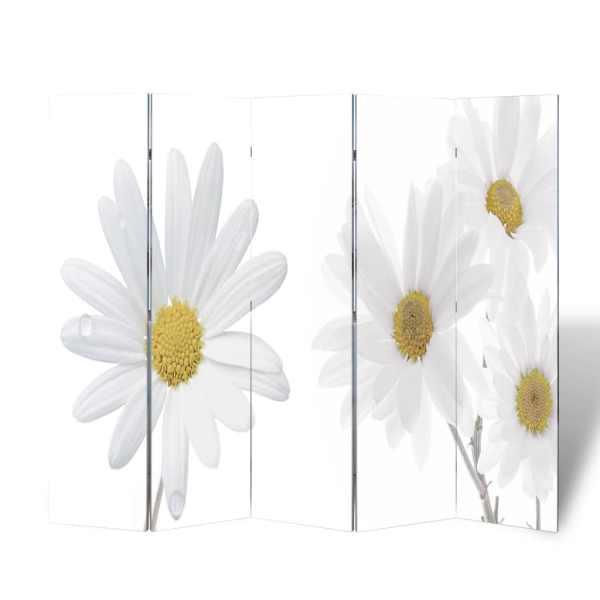 vidaXL Paravan de cameră pliabil, 200 x 170 cm, flori
