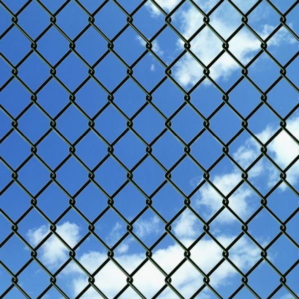 Gard de legătură din plasă, verde, 1 x 15 m, oțel