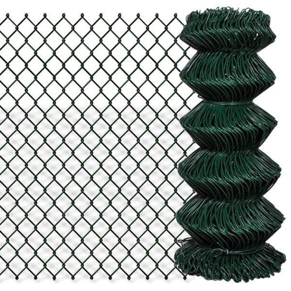 vidaXL Gard de legătură din plasă, verde, 0,8 x 25 m, oțel