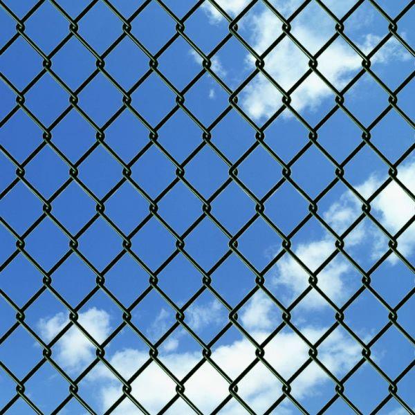 Gard de legătură din plasă, verde, 0,8 x 25 m, oțel