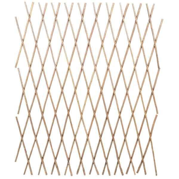 Gard cu zăbrele, 5 buc.,180 x 90 cm, salcie