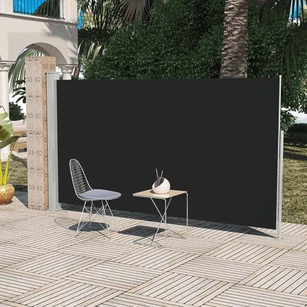 Paravan pentru Curte și Terasă Lateral 160 x 300 cm Negru