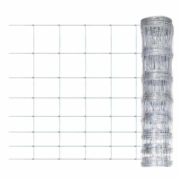 vidaXL Gard de grădină, 50 m, oțel galvanizat, 100 cm
