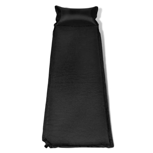 Saltea autogonflabilă cu pernă 6 x 66 x 200 cm negru