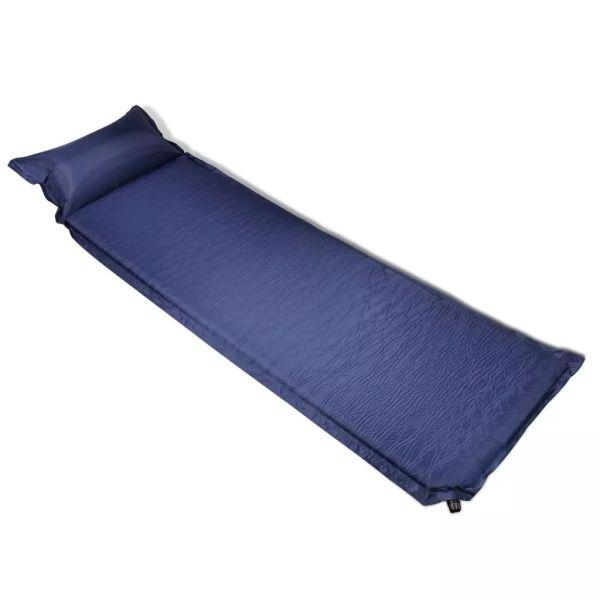 Saltea autogonflabilă cu pernă 6 x 66 x 200 cm albastru