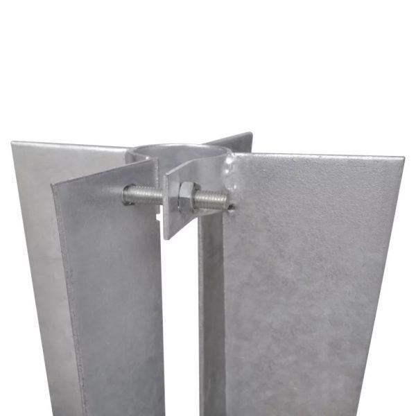 vidaXL Țăruși de stâlp de gard, 2 buc., oțel