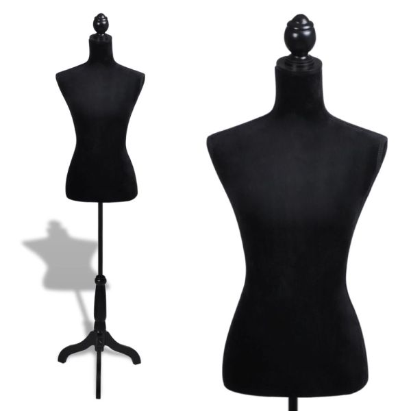 vidaXL Bust pentru dame, negru, manechin croitorie