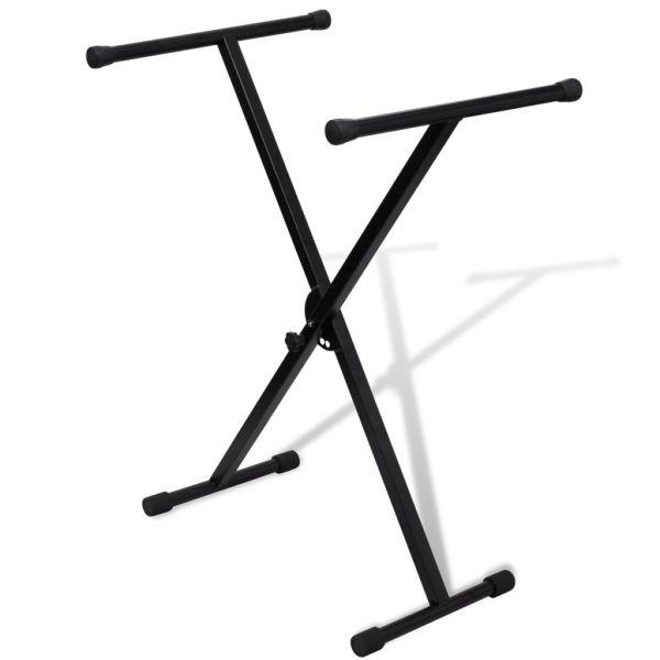 Stativ claviatură reglabil cadru cu un braț în formă X