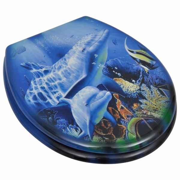 vidaXL Capac WC, MDF, model delfini