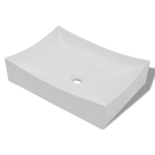 Chiuvetă din ceramică pentru baie high gloss, Alb