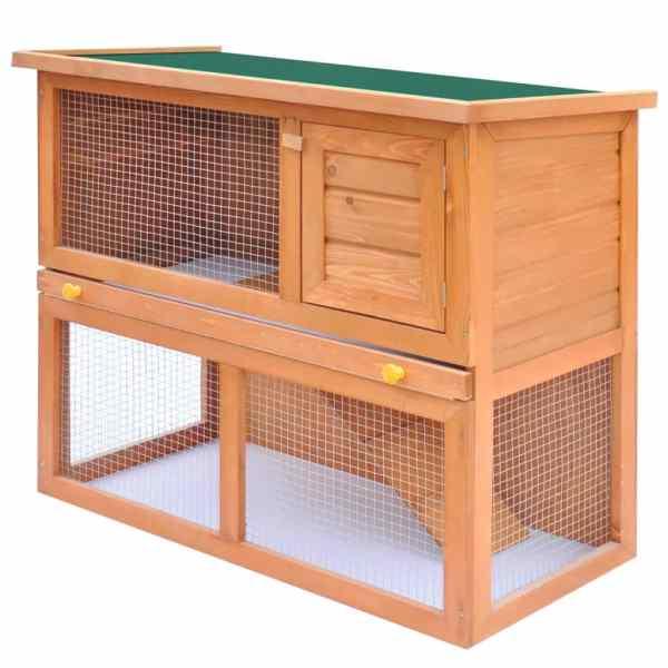 Cușcă de exterior iepuri cușcă adăpost animale mici, 1 ușă, lemn
