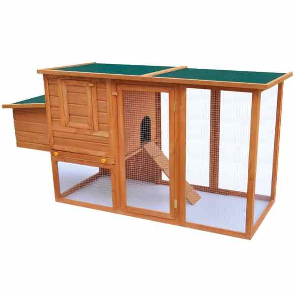 vidaXL Coteț de exterior pentru găini, coteț păsări cu 1 cuibar, lemn