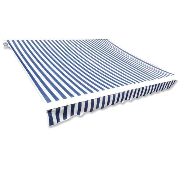 vidaXL Pânză copertină albastru & alb 6 x 3 m (cadrul nu este inclus)