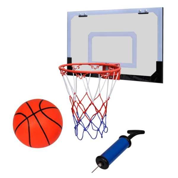 Set coș de baschet indoor cu minge și pompă