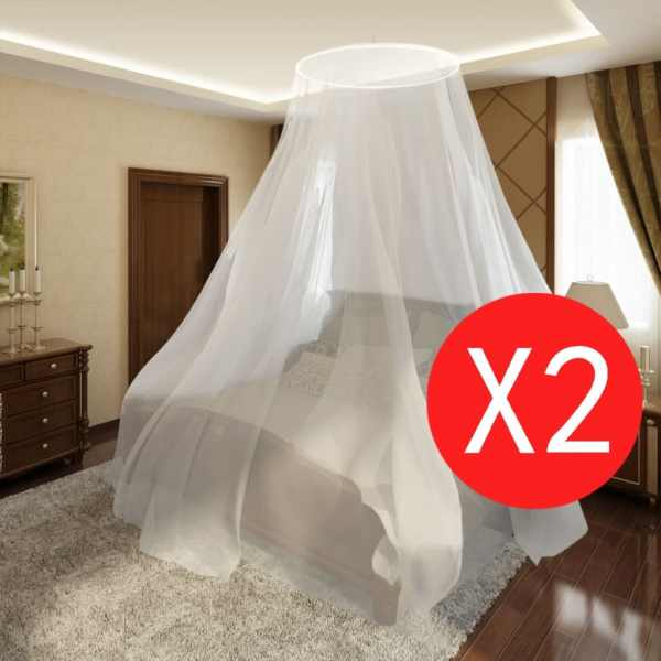 vidaXL Set 2 plase țânțari rotunde 56x325x230 cm