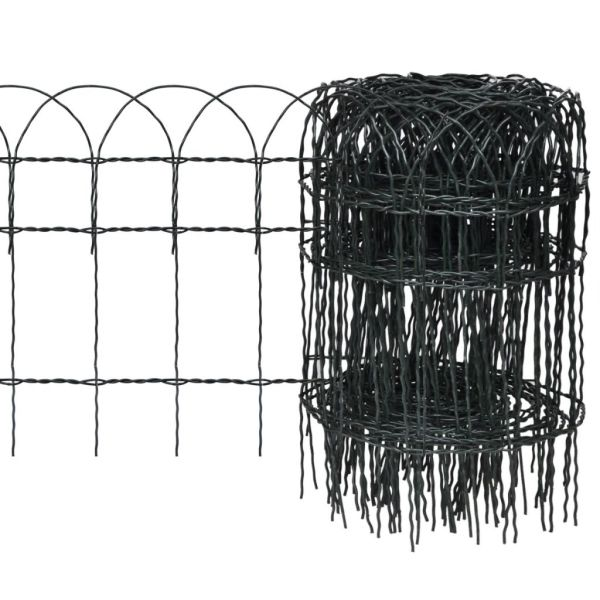 vidaXL Gard delimitare grădină fier vopsit electrostatic 25 x 0,4 m