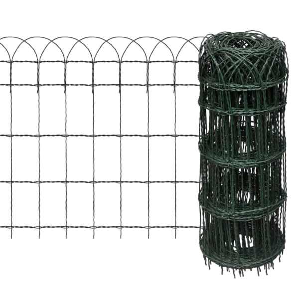vidaXL Gard delimitare grădină fier vopsit electrostatic 10 x 0,65 m
