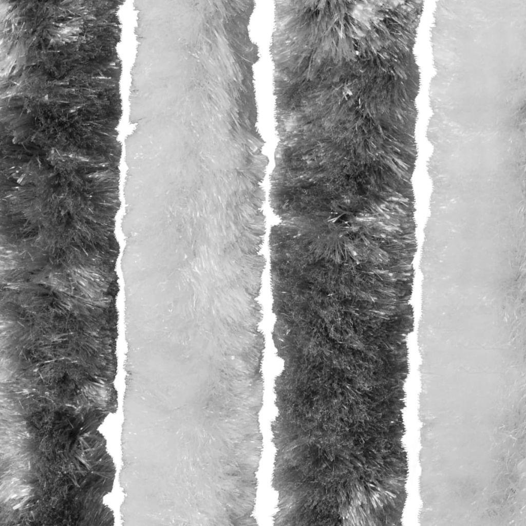 Perdea pentru insecte, gri și alb, 100×220 cm, Chenille