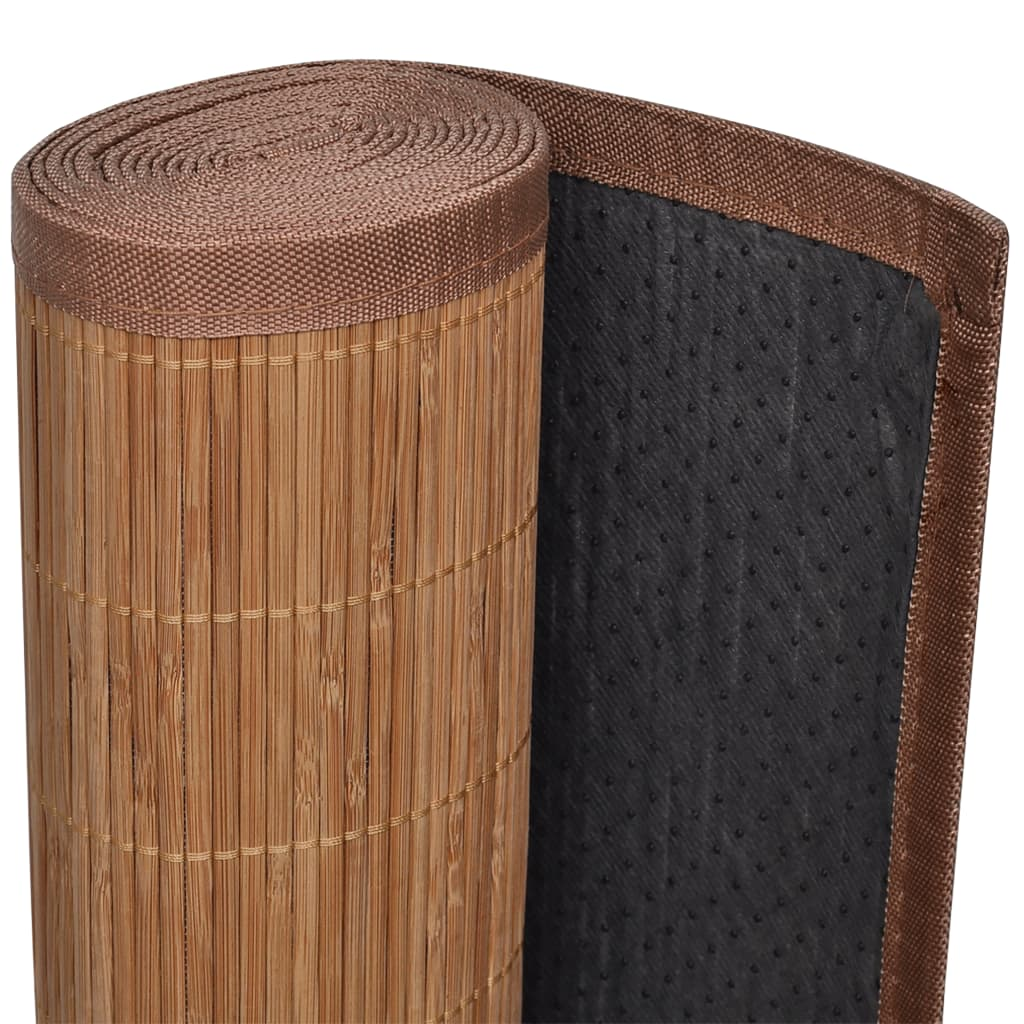 Covor dreptunghiular din bambus 80 x 300 cm, maro