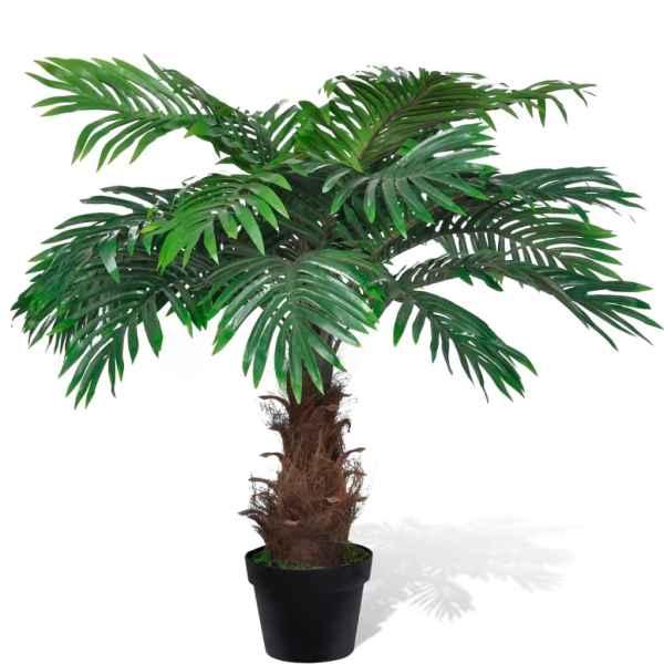 Palmier Cycas artificial cu aspect natural și ghiveci 80 cm