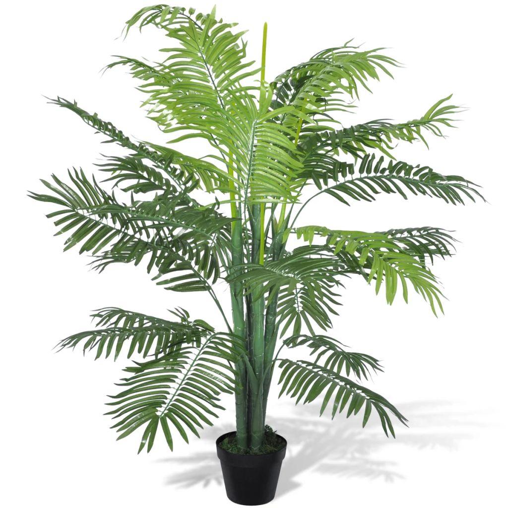 Palmier Phoenix artificial cu aspect natural și ghiveci, 130 cm