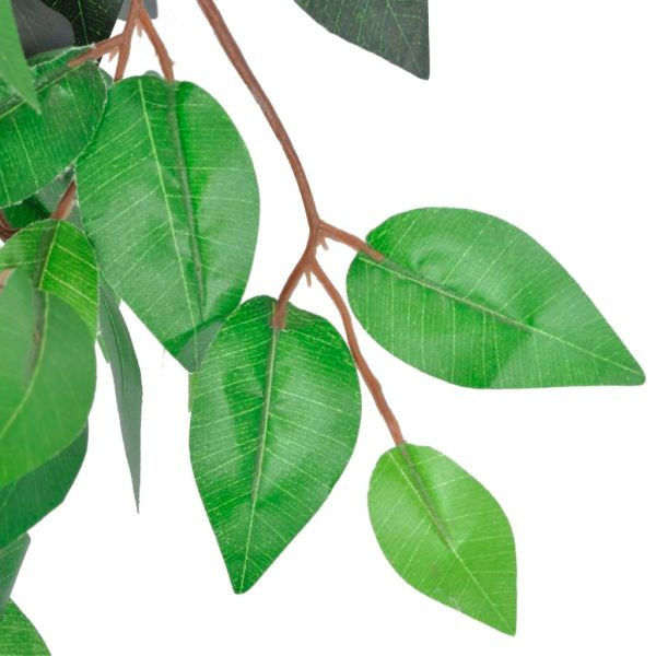 Ficus artificial cu aspect natural și ghiveci, 90 cm