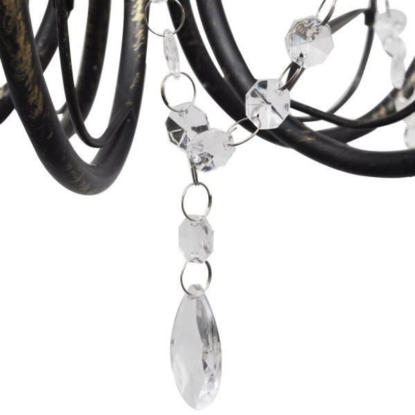 Candelabru art nouveau cu cristale și 3 socluri