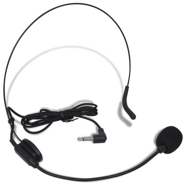 Set receptor cu microfon fără fir și căști VHF