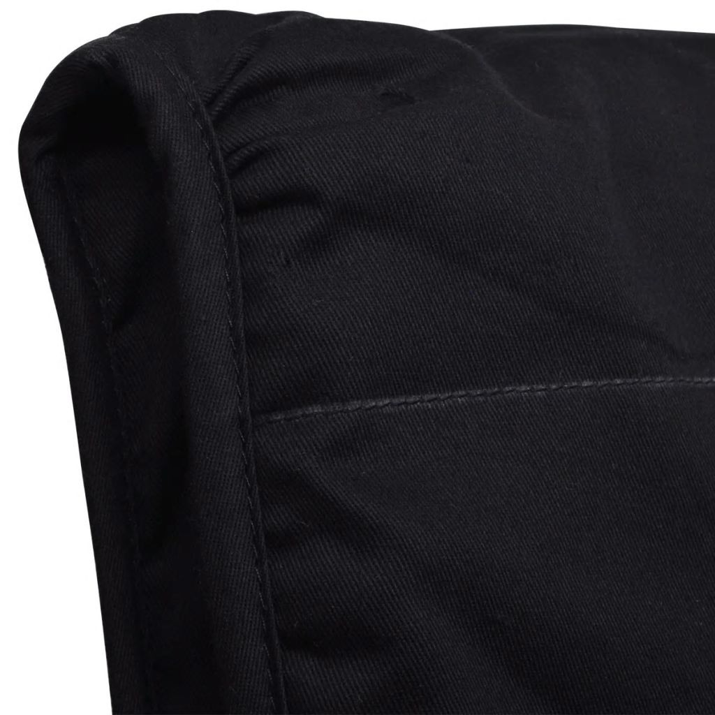 Scaun balansoar, negru, lemn curbat și material textil