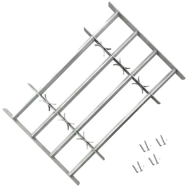 Grilaj de siguranță pentru ferestre cu 4 bare transversale 700-1050 mm