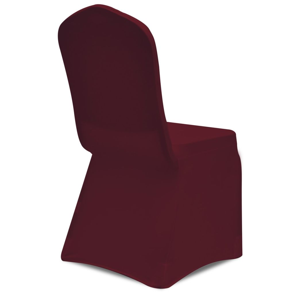 Set huse elastice pentru scaune 50 buc. Bordeaux