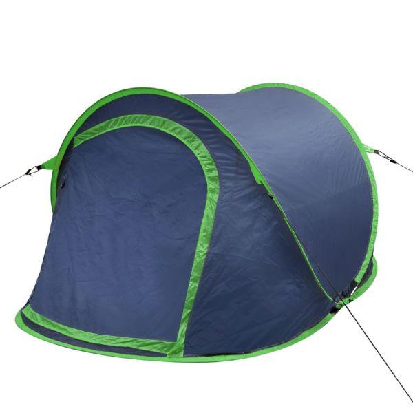 Cort camping pop-up pentru 2 persoane bleumarin/verde