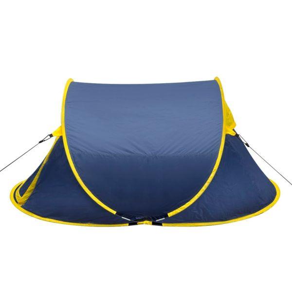 Cort camping pop-up pentru 2 persoane bleumarin/galben