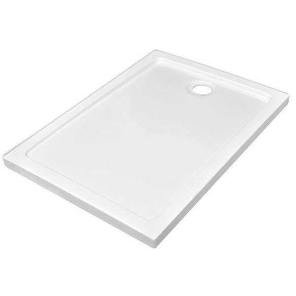 vidaXL Cădiță de duș dreptunghiulară din ABS, alb, 70 x 100 cm