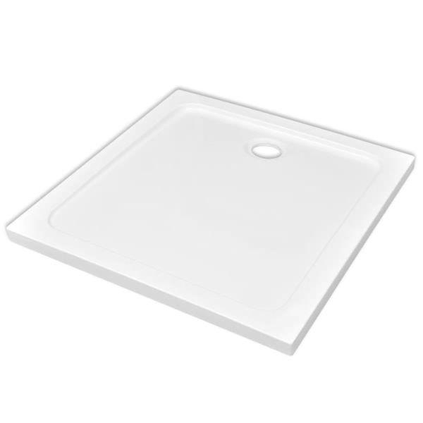 Cădiță de duș pătrată din ABS, alb, 80 x 80 cm