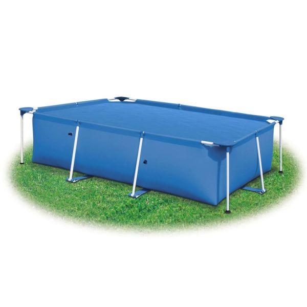 Folie dreptunghiulară pentru piscină din PE, 450 x 220, albastru