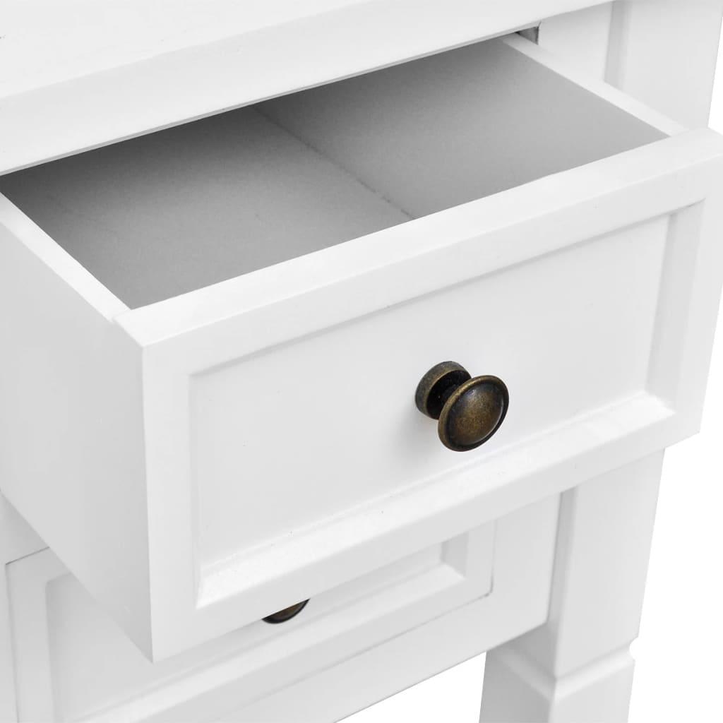 Birou de lucru cu 5 sertare, alb