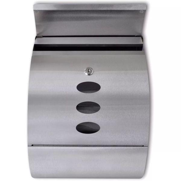 Cutie poștală oțel inoxidabil 30 x 12 x 40 cm