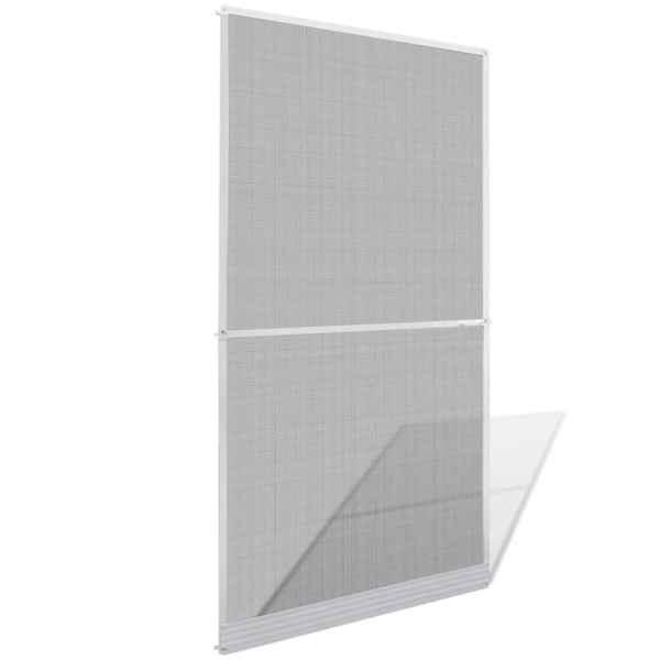 Plasă albă cu balamale pentru uși împotriva insectelor 120 x 240 cm