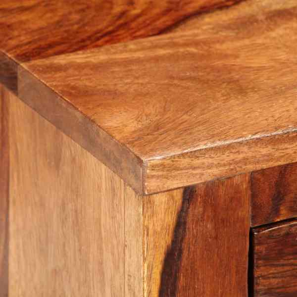 Noptieră cu 1 sertar, lemn masiv de sheesham