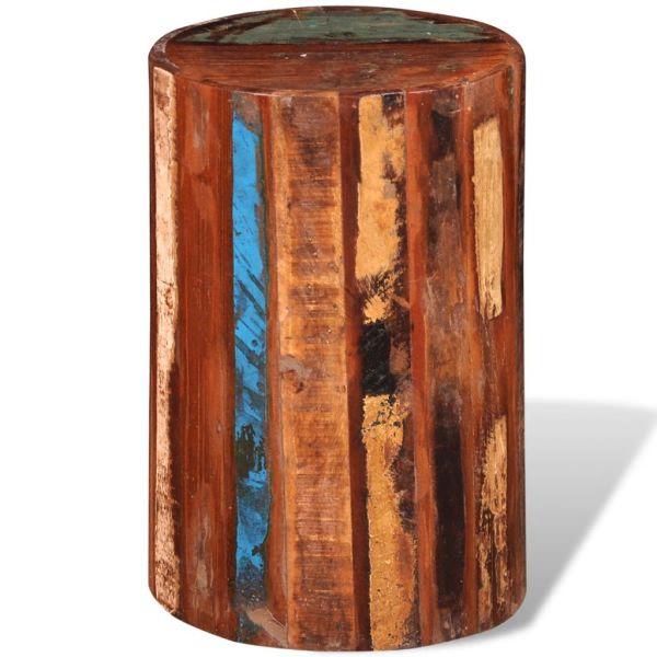 vidaXL Taburet, lemn masiv reciclat