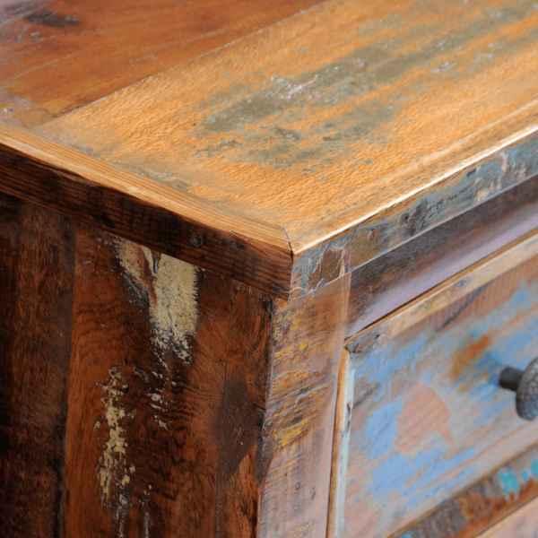 Noptieră cu 2 sertare, lemn masiv de sheesham