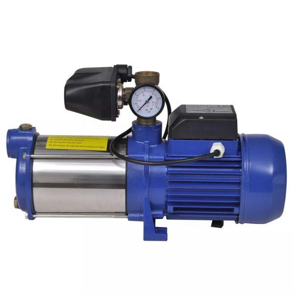 Pompă cu manometru 1300 W 5100 L/h Albastru