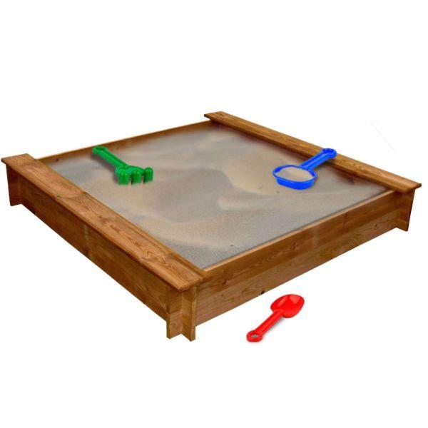 vidaXL Groapă de nisip, lemn, pătrat
