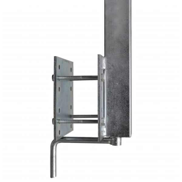 Set de 2 suporturi cu bară pentru remorcă de barcă, 63 – 88 cm